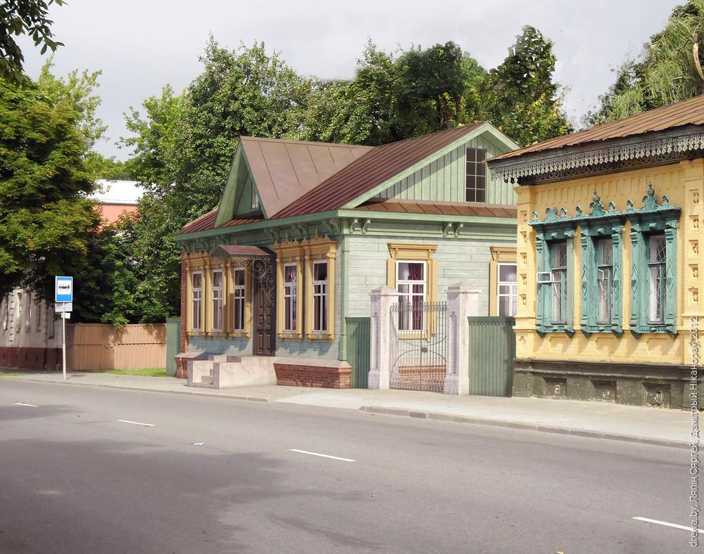 Візуалізацыя канцэптуальнай ідэі Сяргея Ляпіна па пераносу Валатаўской, 17 на вул. Пралетарскую.