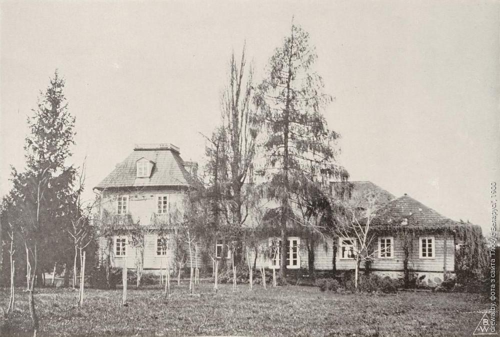 Сядзібны дом Дамеек у 1900г.